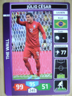 2014 PANINI CARD (NOT STICKER) FIFA SOCCER WORLD CUP JULIO CESAR BRASIL - Andere