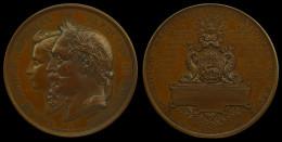 M01735 EXPOSITION MARITIME INTERNATIONALE HAVRE 1868  (120.6g)  NAPOLEON III EMPEREUR  Profil Au Revers - Royal / Of Nobility