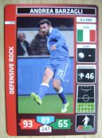 2014 PANINI CARD (NOT STICKER) FIFA SOCCER WORLD CUP ANDREA BARZAGLI ITALIA ITALY - Andere