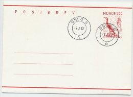 NORWAY 1982 2.00 Postal Stationery Letter Sheet, Cancelled.  Michel K54 - Postal Stationery