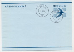 NORWAY 1982 3.00 Kr  Aerogramme, Cancelled.  Michel LF29 - Postal Stationery