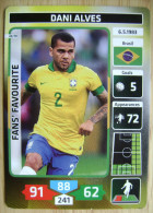 2014 PANINI CARD (NOT STICKER) FIFA SOCCER WORLD CUP DANI ALVES BRASIL - Andere