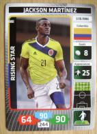 2014 PANINI CARD (NOT STICKER) FIFA SOCCER WORLD CUP JACKSON MARTINEZ COLOMBIA - Panini