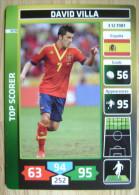 2014 PANINI CARD (NOT STICKER) FIFA SOCCER WORLD CUP DAVID VILLA SPAIN - Panini