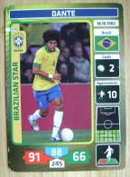 2014 PANINI CARD (NOT STICKER) FIFA SOCCER WORLD CUP DANTE BRASIL - Panini