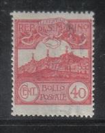 W2047 - SAN MARINO 1903 , 40 Cent N. 40  ***  MNH . - Ungebraucht