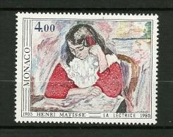 "MONACO  1980    N° 1243     Fauvisme  ""la Lectrice De Matisse""        NEUF - Unused Stamps"