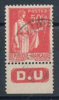 Paix 50c Rouge Type II Pub D.U. - Pubblicitari