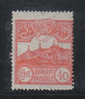 W2071 - SAN MARINO 1921 , Ordinaria N. 76 * Mint - Ungebraucht