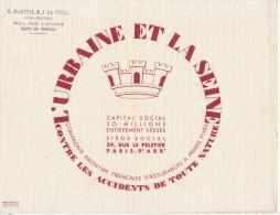 Assurance L'URBAINE Et LA SEINE Paris (pli)  (tampon Martial & La Fonta Mont De Marsan) - A