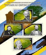 tg14420a Togo 2014 Jules Verne novel s/s Dinosaur Mushroom Ship