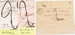 TAXE 2 TAPON DE FABRICATION LOCALE VOSGES LST 1850 RAON L ETAPE - 1849-1876: Classic Period