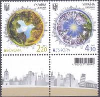 CEPT / Europa 2011 Ukraine N° 1042 Et 1043 ** Les Fôrets (Bord De Feuillet) - Europa-CEPT
