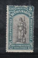 W2119 - SAN MARINO 1918 , Il N. 55 ***  MNH - Ongebruikt