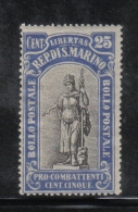 W2122 - SAN MARINO 1918 , Il N. 58 ***  MNH - Ongebruikt