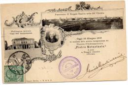 CARTOLINA D'EPOCA  IN MEMORIA INAUGURAZIONE CIRCOLO FILODRAMMATICO PIETRO METASTASIO  VIAGGIATA 1905 - Inaugurazioni
