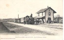 02 - VAILLY - SUR - AISNE : GARE DU C. B.R. LIGNE DE SOISSONS A RETHEL . - Autres Communes