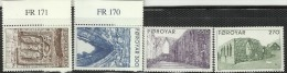 Faroe Islands 1988 Ruins Set MNH - Faroe Islands