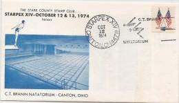 US - 2 - 1974 C.T. BRANIN NATATORIUM - CANTON, OHIO COMMEMORATIVE Cover - SPECIAL CANCELLATION - Zwemmen