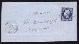 France - Lettre 1856 - Flers De L'Orne Pour Verneuil Sur Avre - 1849-1876: Période Classique