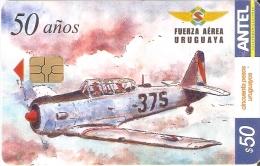 Nº 309 TARJETA DE URUGUAY DE UN AVION (PLANE) - Uruguay