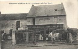 Yvelines : Fontenay Le Fleury, Restaurant De La Croix Blanche, Belle Carte Animée - Other Municipalities