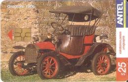Nº 351 TARJETA DE URUGUAY DE UN COCHE DE EPOCA (CAR) GREGOIRE 1906 - Uruguay