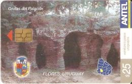 Nº 354 TARJETA DE URUGUAY DE LAS GRUTAS DEL PALACIO EN FLORES - Uruguay