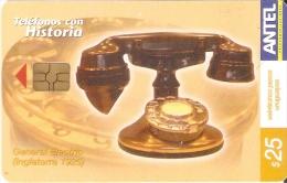 Nº 356 TARJETA DE URUGUAY DE UN TELEFONO DE EPOCA (GENERAL ELECTRIC) INGLATERRA 1925 - Uruguay