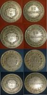 Costa Rica Coins Set 2, 1, 0.50 Y 0.25 - 1948 (VF) - Costa Rica