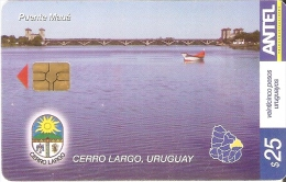 Nº 373 TARJETA DE URUGUAY DE PUENTE MAUA EN CERRO LARGO - Uruguay
