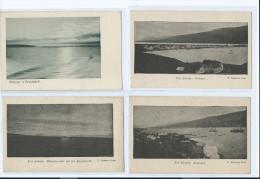 4 CARTES ISLANDE AKUREYRI BREIDAFIRDI ODDEYRI MIDNOETURSOLIN SAUDARKROK 2 scans (R2 FREE SHIPPING REGISTERED)