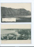 2 CARTES ISLANDE HAFNARFJORDUR ISAFJORDUR 2 Scans (R2 FREE SHIPPING REGISTERED) - Islande