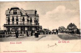 De Haan 3 CPA Hôtel Des Familles 1902    Groupe De Villas Tram       Avenue Leopold  1903 - De Haan
