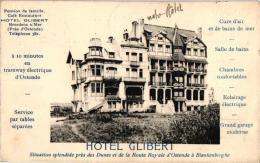 Bredene 3 CPA    Hotel Glibert '11    Duinenstr '29       Hotel De L'Esperance '08 - Bredene