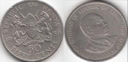 KENYA 50 Cents 1980 KM#19 - Used - Kenia