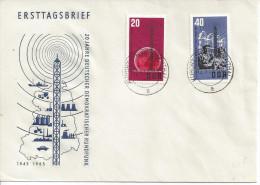 Germany (DDR) 1965  20 Jahre Deutschen Demokratischer Rundfunk  FDC  Mi.1111-1112  Kurort Oberwesenthal - [6] Democratic Republic