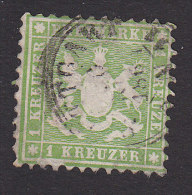 Wurttemberg, Scott #34, Used, Coat Of Arms, Issued 1863 - Wurttemberg