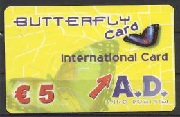 Italy,  Prepaid, Butterfly. - Italia
