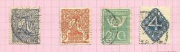 Pays-Bas N°107 à 110 Cote 2.75 Euros - 1891-1948 (Wilhelmine)