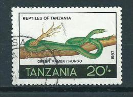 1987 Tanzania 20Sh. Reptiles,animals,tiere,dieren Used/gebruikt/oblitere - Tanzanie (1964-...)