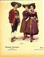 Original  Holzschnitt Mit Tracht Aus Dem Wipptal Ca 1890 Aus Münchner Bilderbogen - Drucke