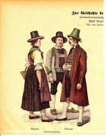 Original  Holzschnitt Mit Tracht Aus Dem Brixental Und Unterwangenberg Ca 1890 Aus Münchner Bilderbogen - Drucke