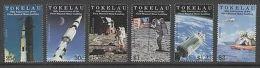TOKELAU ISLANDS SG295/300 1999 30th ANNIV OF FIRST MOON LANDING MNH