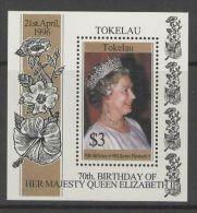 TOKELAU ISLANDS SGMS244 1996 70th BIRTHDAY OF QEII MNH