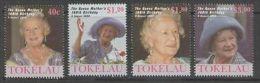 TOKELAU ISLANDS SG310/3 2000 QUEEN MOTHER'S 100th BIRTHDAY MNH