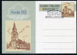 FINLAND 1999 NORDIA 99 Postal Stationery  Card Cancelled With First Day Postmark  Michel P199 - Finland