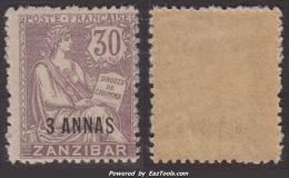 Zanzibar N° 57 Neuf ** Sans Charnières TB (Cote Dallay 30€) - Zanzibar (1894-1904)