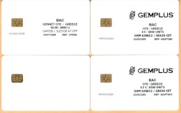Greece - Test Demo 3 Gemplus & 1 Orga Cards 4€  6.5 €, Loaded & Mint - Grecia