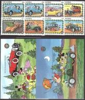 Walt Disney  MiNr. 935 - 944 (Block 81) Gambia  MNH / ** / POSTFRISCH - Disney